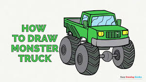 How To Draw A Monster Truck In A Few Easy Steps: Drawing Tutorial ...