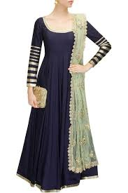 Simple Anarkali Frock With Embroidered Dupatta