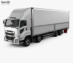 Isuzu Giga Box Truck 4-axle 2017 3D Model - Hum3D