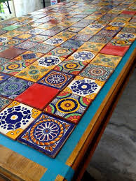 mexican tiled table patio plans tile showers