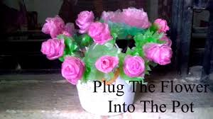 100 Small And Elegant Plastic Roses Pink And