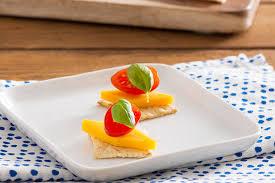canape recipes tomato cheese canapés kraft recipes