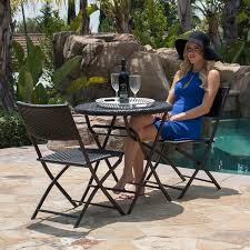 Shop Belleze Folding Table & Chair Bistro Set Rattan Wicker Outdoor ... Chaise Lounges And Sling Chairs Webstaurantstore Patio At Lowescom Atlantico Plastic Resin Lounge For Pool Deck Patios Safavieh Pmdale Natural Brown Folding Wood Outdoor Chair Tips Beautiful Garden Decor With Lowes Lawn Wooden Composite Bench Chase And Small Table Pvc 15 Best Heavy Duty Pink White Foldable Amazoncom Hl Rattan Steel Bistro Set Parma Diy Upcycled Fniture Accsories Tifforelie