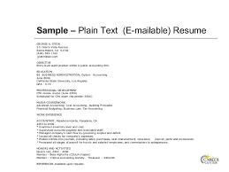 plain text resume example Roho 4senses