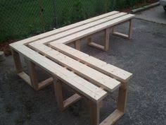 how to build a simple patio deck bench out of wood step by step