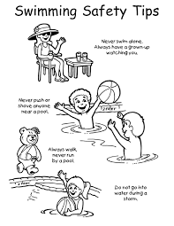 Swimming Safety Coloring Pages Download And Print For Free New