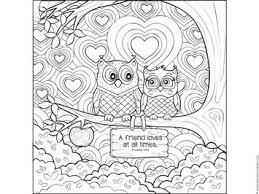 Owl Coloring Page With Bible Verse