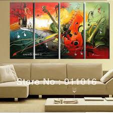 Hand Painted Guitar Canvas Wall Art Sample Amazing Picture Awesome Sofa White Wallpaper Pillow Tylann Shop