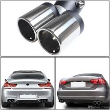 150MM Exhaust Pipe Car Stainless Steel Chrome Double Dual Exhaust ... Best Chrome Exhaust Tips For Trucks Amazoncom My Truck Rolling Coal 12in Diesel Tip Youtube Patriot Exhaust H7321 Street Rod Megaphone Tip Chrome Pilot Automotive Ex1024 Omega Black Walmartcom Awe Tuning C7 Audi S7 40t Track System Car Auto Ppipe Grilled Shark Fin Stainless Steel Muffler Dual Round Double Wall Forward Slash Cut Tips Assured Company Blog 47784 Monster Single Exit Use With Mustang 212 Turndowns Restoparts Chevelle 196972 Oval Opgicom