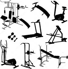 Gym Equipment Vector Stock Olivera 9716055 Rh Depositphotos Com Fitness Clip Art Workout Clipart
