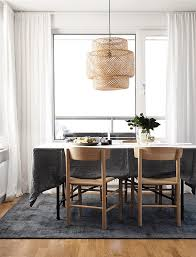 Ikea Dining Room Lighting by Black White And Wood Dark Grey White Wood And Dark