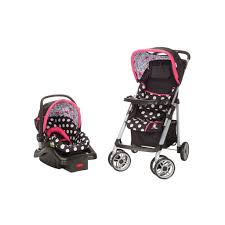 Safety 1st Disney Pooh Walker by Minnie Mouse Coral Flowers Saunter Sport Travel System From Safety