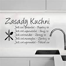 polen küche regeln wandaufkleber polskie sprache vinyl