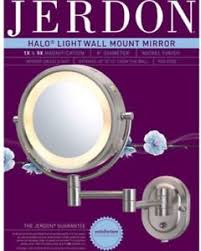 8 two sided swivel halo lighted wall mount mirror 5x