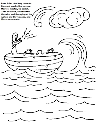 Jesus Calms The Storm Coloring Pages At Calm Page