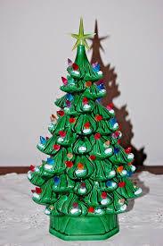 Vintage Atlantic Mold Ceramic Christmas Tree by Vintage Ceramic Christmas Tree Multi Color Lighted Holland Mold