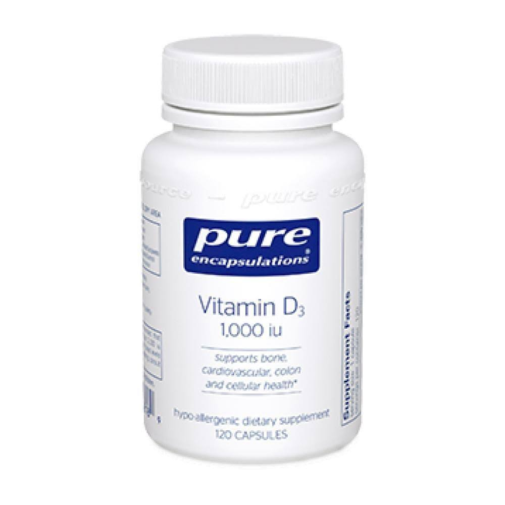 Pure Encapsulations Vitamin D3 - 1000 IU 120 Capsules