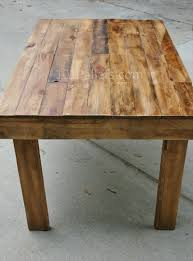 Easy To Make Pallet Wood Dining Table