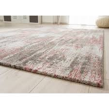 flachgewebe teppich farthing in rosa grau beige