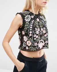 image 3 of needle u0026 thread embroidery lace top dressing room
