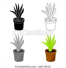 arriere plan de bureau animé plante illustration bureau symbole pot fleurs style