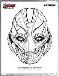 Ultron Avengers Age Of Free Printable Coloring Pages