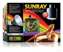 Uvb Lamp Vitamin D3 by Exo Terra Sunray Fixture Metal Halide Fixture With Ballast And