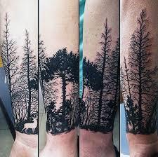 Wrist Nature Themed Mens Deer Tattoos