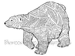 Polar Bear Coloring Page Printable Pages Wall Art Adult