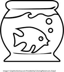 Free Fish Tank Coloring Page