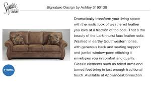 Ashley Furniture Larkinhurst Sofa by Signature Design By Ashley 3190138 At Www Appliancesconnection Com