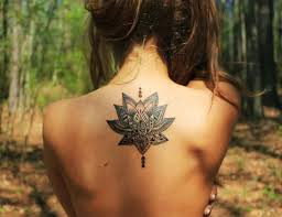 Lotus Flowers Girls Back Tattoo