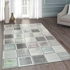 teppich wohnzimmer patchwork muster pastell