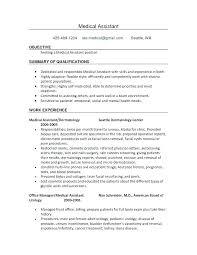Medical Assistant Instructor Resume Job Description Examples Of Resumes Receptionist