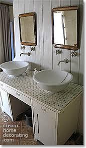 Rustic French Bathroom Vanity