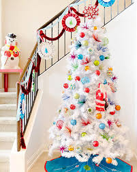 8 Ft Pre Lit Multicolor Christmas Tree by Winter White Artificial Christmas Tree Treetopia