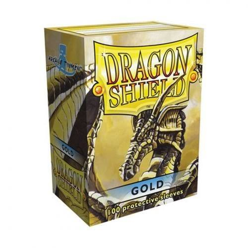 Dragon Shield Card Sleeves - Gold, 100 Protective Sleeves