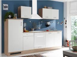 küchenzeile ohne elektrogeräte 270 cm matt weiß andy