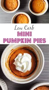 Crustless Pumpkin Pie Cupcakes by Mini Low Carb Pumpkin Pies My Life Cookbook Low Carb Healthy