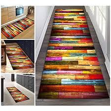 filjr teppich läufer flur bunt rutschfest lang 60x300cm vintage for küche schlafzimmer wohnzimmer tqdtx polyester verblassen nicht anpassbar color