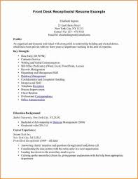 Dental Front Desk Receptionist Resume by Medical Receptionist Resume With No Experience Httpwww Templates