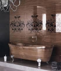 luxury bathroom with fireplace armchair washbasin wall shelf