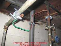 And Cold Water Pipes Photo by Bonding Jumper Between Cold Water Water And Gas Pipe At The