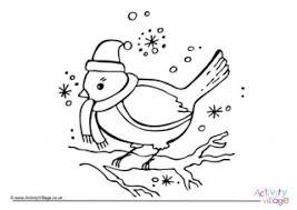 Christmas Robin Colouring Page