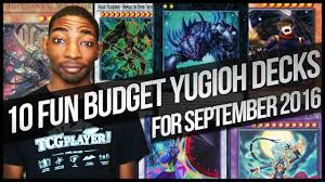 10 budget fun yu gi oh deck ideas for new september 2016 format