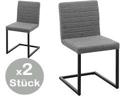 lia freischwinger stuhl 2er set stühle esszimmer grau