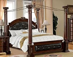 Amazon King Tufted Headboard by Amazon Com Mandalay Eastern King Canopy Bed With Tufted