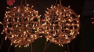 Qvc Pre Lit Christmas Trees by Set 2 Pre Lit Fold Flat Spheres With 100 Lights By Lori Greiner On