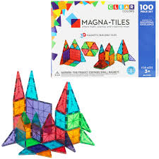 Magna Tiles Clear Colors 32 Pc Set by 100 Valtech Magna Tiles Clear Colors Amazon Com People