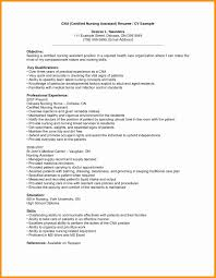 Sample Resume For Cna With Objective Example Of Additional Skills Examples New Unique